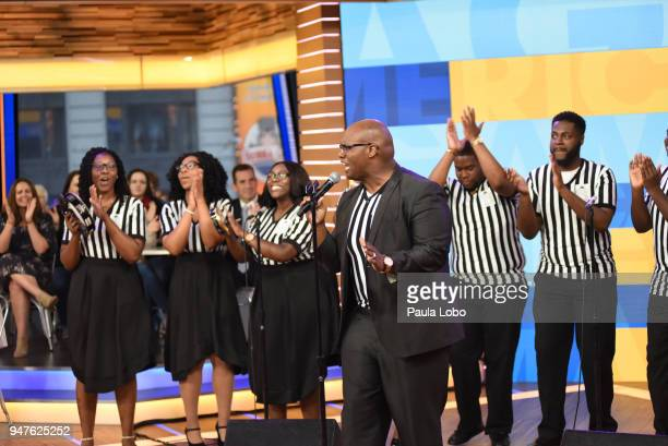 AMERICA The Francis Marion University YGB choir performs live on 'Good Morning America' Tuesday April 17 airing on the ABC Television Network JEFFREY