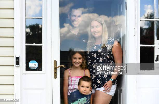 The Franklins clockwise from top left Morgan Katie Austin and Aubree pose at their front door July 15 2020 in Herndon VA The Franklins are planning...