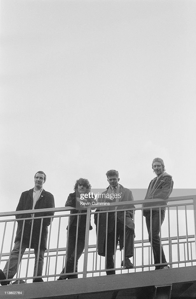 The Frantic Elevators, with singer Mick Hucknall, second from right, Hulme, Manchester, circa 1981. Hucknall went on to global success with his next band Simply Red.