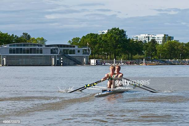 Double Scull on the Fraser River