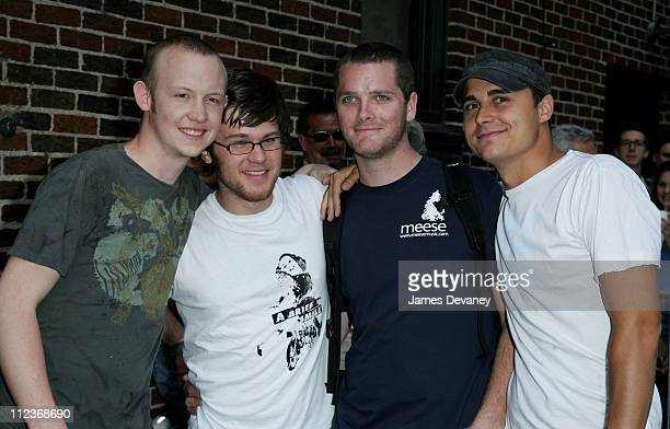 """The Fray during Michael Douglas, The Fray, Anderson Cooper and Martin Short Visit the """"Late Show with David Letterman"""" - July 10, 2006 at Ed Sullivan..."""