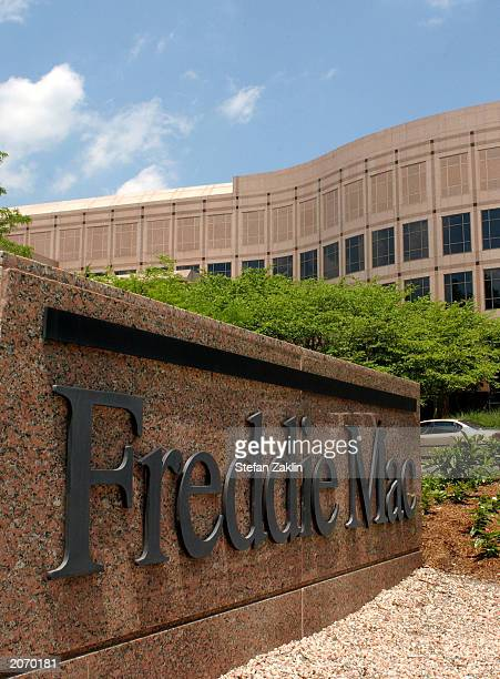 The Freddie Mac sign is shown at its headquarters June 10 2003 in McLean Virginia Freddie Mac a major US home loan provider announced yesterday that...