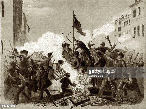 The Frederic Street Square barricade Berlin 18 March 1848