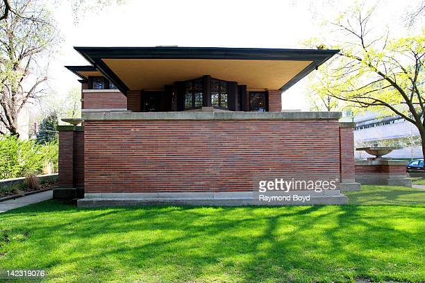 The Frederick C Robie House built between 19081910 and designed by famed architect Frank Lloyd Wright in Chicago Illinois on MARCH 25 2011