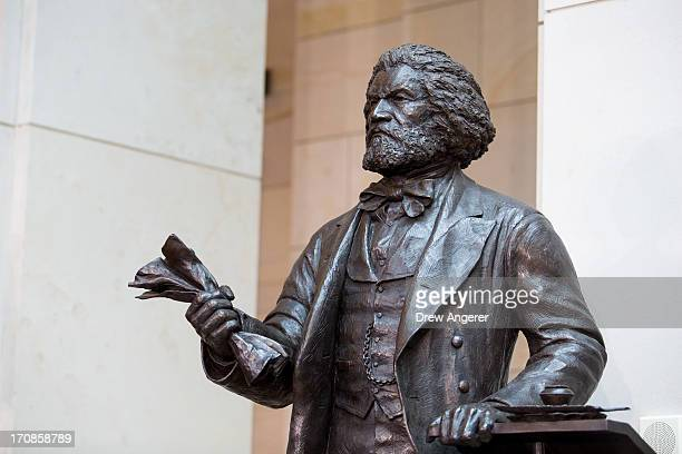 The Frederick Douglass Statue in Emancipation Hall at the Capitol Visitors Center at the US Capitol on June 19 2013 in Washington DC Congressional...