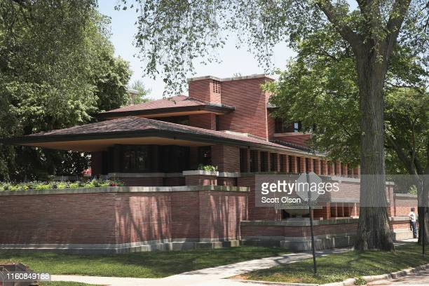 The Frederick Robie House designed by famed architect Frank Lloyd Wright is seen in the Hyde Park neighborhood next to the University of Chicago on...