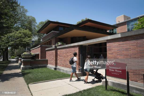 The Frederick Robie House, designed by famed architect Frank Lloyd Wright, is seen in the Hyde Park neighborhood next to the University of Chicago on...