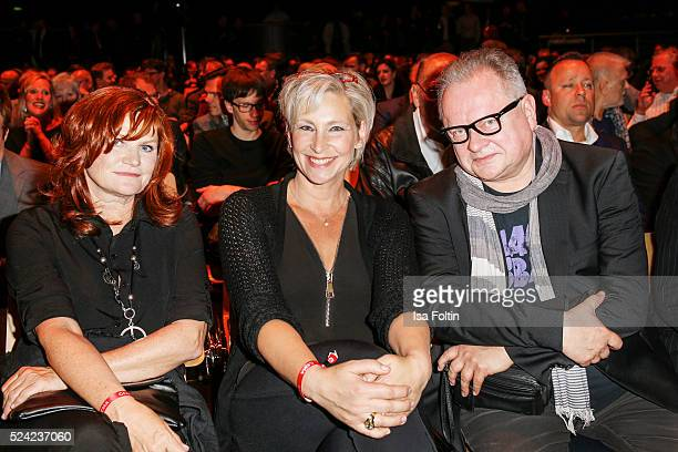 The FredJay Jury Pe Malou Werner Claudia Jung Heinz Rudolf Kunze during the Fred Jay Award 2016 on April 25 2016 in Berlin Germany