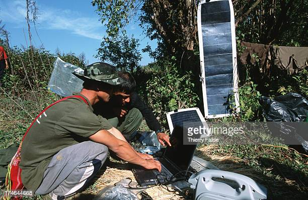 The Free Burma Rangers use modern technologies such as satellite phones and computers with solar batteries to transmit information to the outside...