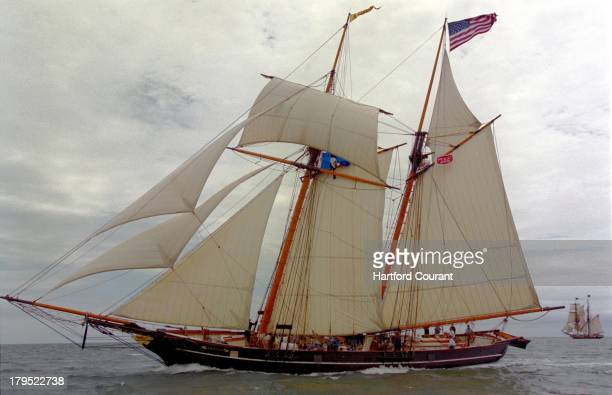 The freedom schooner Amistad a replica of the ship on which 53 African hostages bound for slavery rebelled more than 150 years ago got its first...