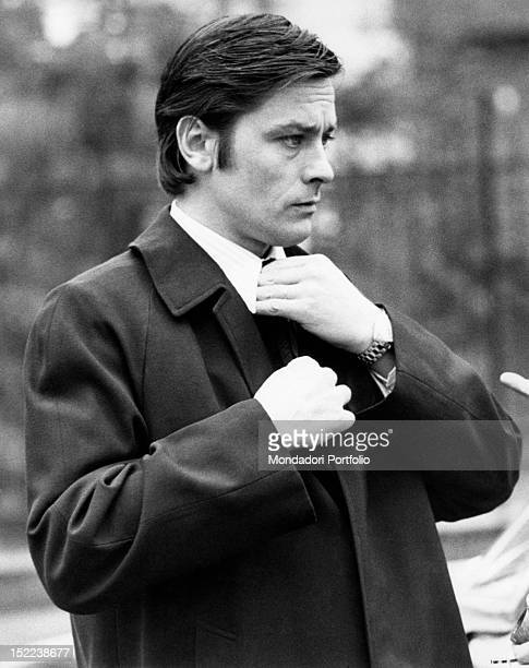 The French actor Alain Delon acting in 'Big Guns'. Milan, 1973