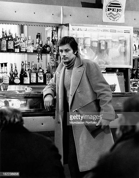 The French actor Alain Delon acting in 'Indian Summer'. Rimini, 1972