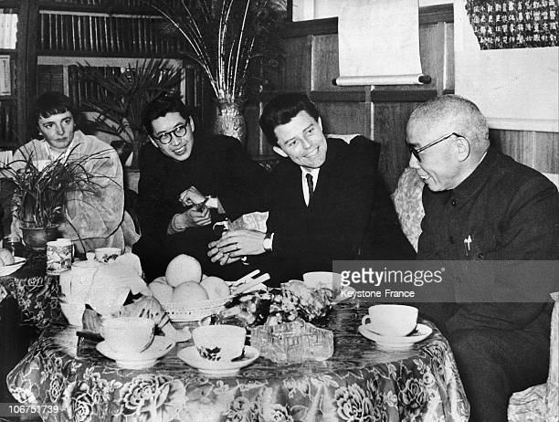 The French Actor Gerard Philipe And His Wife Anne In Peking In March 1957