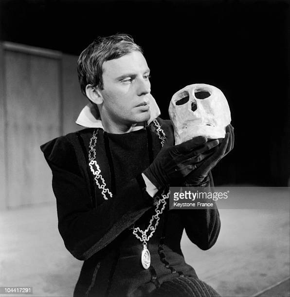 The French actor JeanLouis Trintignant embodies Hamlet on the stage of the Theater of the ChampsElysees in Paris January 28 1960