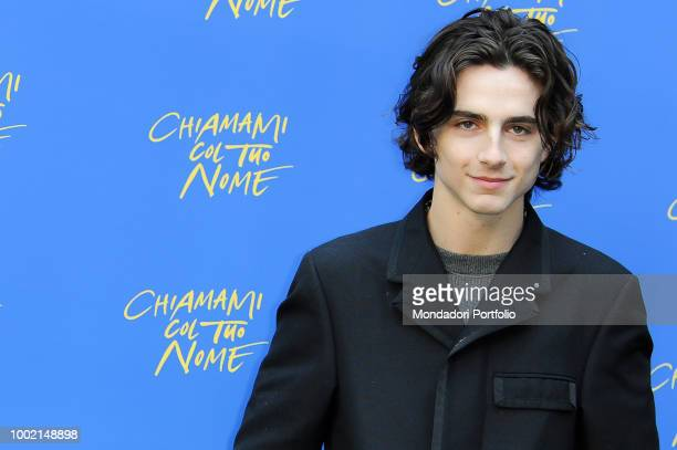 The French actor Timothée Chalamet at the photocall of the film Call Me by Your Name at the Hotel De Russie Rome January 24 2018