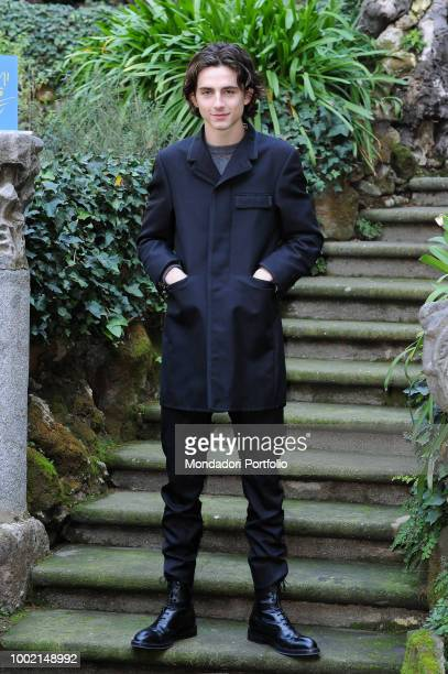 The French actor Timothée Chalamet at the photocall of the film Chiamami col tuo nome at the Hotel De Russie Rome January 24 2018