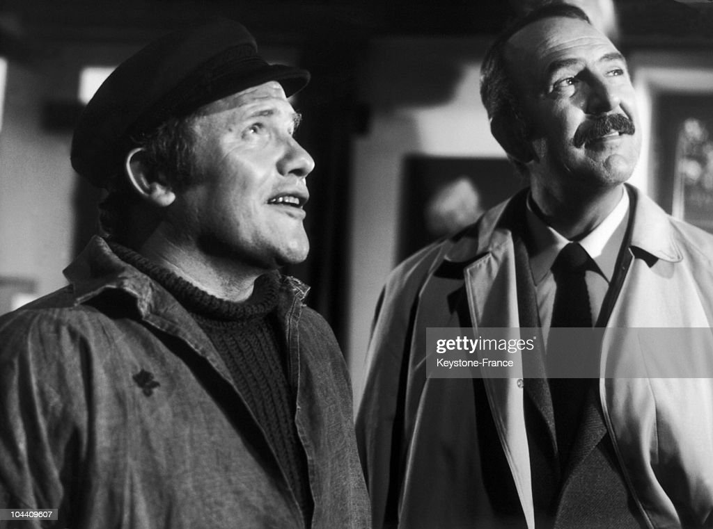 The French Actors Bernard Fresson And Jean Pierre Marielle