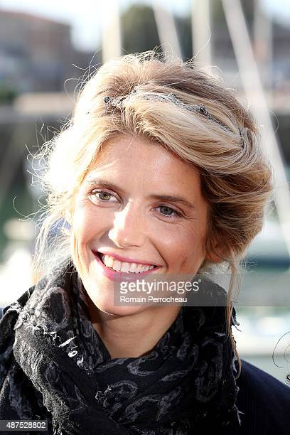 The French actress Alice Taglioni after the photocall of L'Annonce on September 10 2015 in La Rochelle France