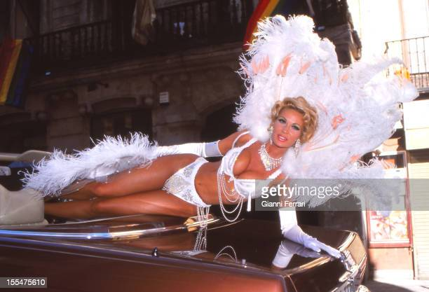 The French actress and dancer Marlene Mourreau during a demonstration of `Gay Pride Day 28th June 1998 Madrid Castilla La Mancha Spain