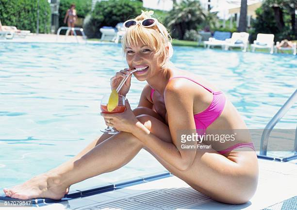 The French actress and dancer Marlene Mourreau during a holiday in Valencia 15th June 1998 Valencia Levante Spain