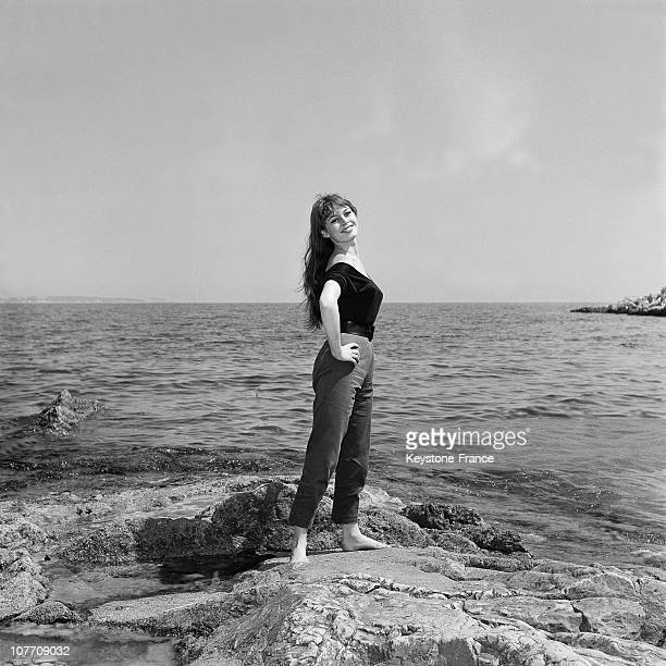 The French Actress Brigitte Bardot At The Lerins Islands During The 8Th Cannes Film Festival On April 29Th 1955