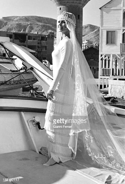 The french actress Brigitte Bardot during the filmation of the movie 'Boulevard du rhun' Malaga Spain.