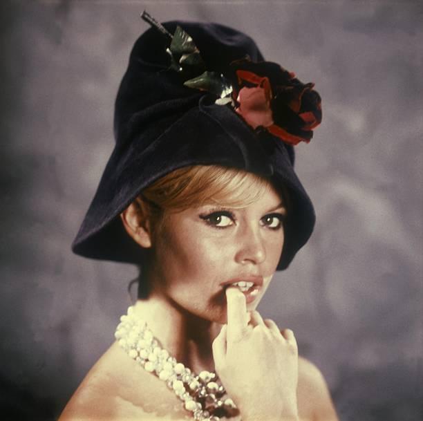 Brigitte Bardot With A Cloche Hat In 1966