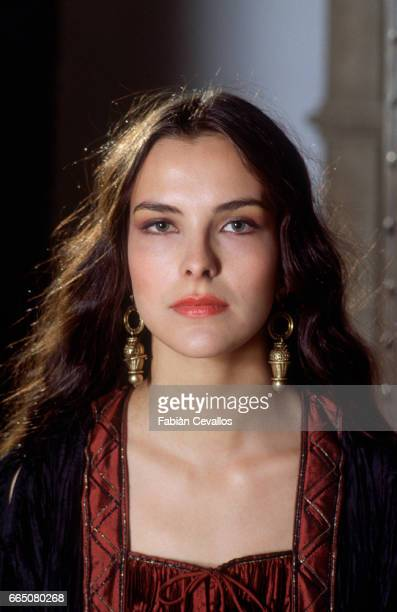 The French actress Carole Bouquet on the set of the movie Good King Dagobert