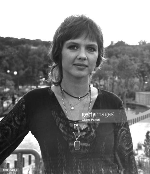 The French actress Haydee Politoff during the filming of the movie 'El gran amor del Conte Dracula' directed by Javier Aguirre Madrid Spain