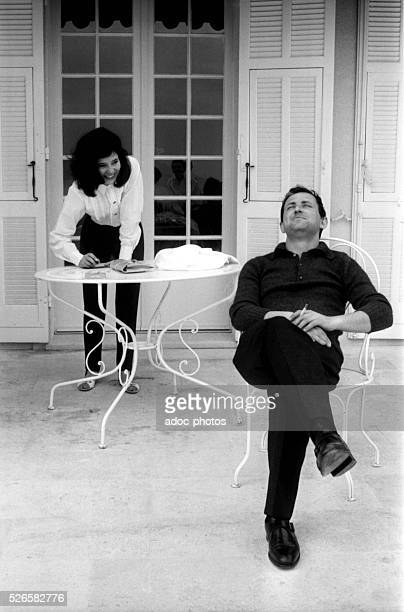 The French actress MarieJos�� Nat with her second husband the film director Michel Drach on the French Riviera In 1962