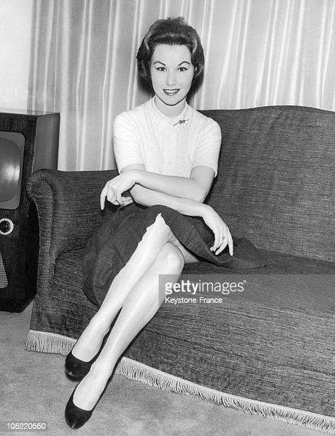 The French Actress Nadine Tallier The Future Baroness De Rothschild In London On January 2 1959