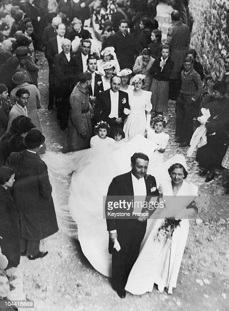 The French Actress Paulette Dubost Married Andre Ostertag In Saint-Paul-De-Vence On December 24, 1936.