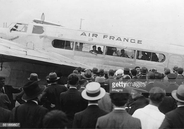 The French Air Minister Pierre Cot before his departure to Russia. Bourget airport. 20th September 1933. Photograph.