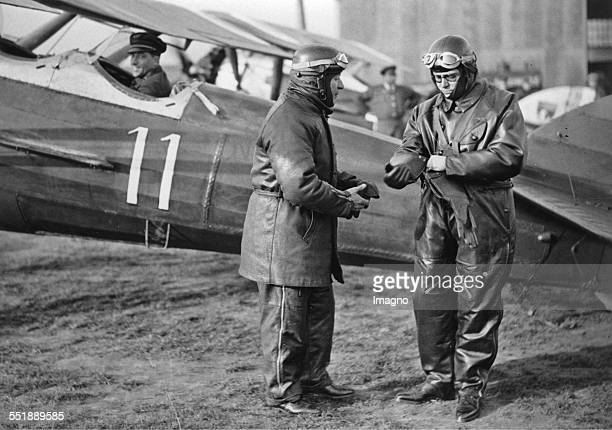 The French Air Minister Pierre Cot with Raynaud's adjutant Le Bourget 10th March 1933 Photograph