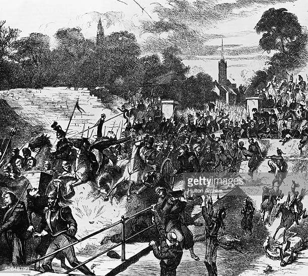The French are decisively defeated at Battle of Sedan during the FrancoPrussian War 1st September 1870