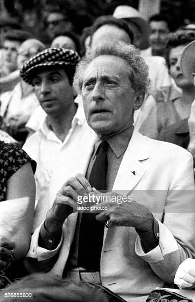 The French artist Jean Cocteau at a bullfight in Vallauris In 1952