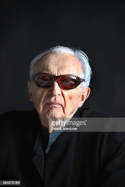 The French artist Pierre Soulages visit the museum that bears his name on April 11 2014 in Rodez FranceThe Soulages Museum in Rodez is due to open in...