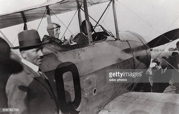 The French aviator Adrienne Bolland Ca 1930