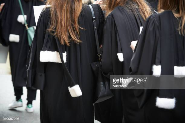 The French Bar Association all lawyers' unions all magistrates' unions called all its members to be on strike to gather in front of courthouses and...