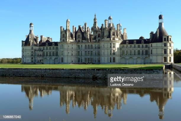 le château de chambord français - france castel photos et images de collection