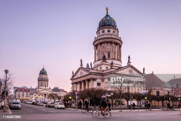 The French Cathedral at the Gendarmenmarkt on March 22 2019 in Berlin Germany