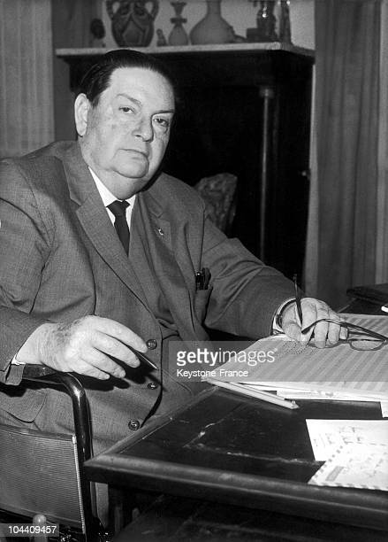 The French composer Darius MILHAUD composes a cantata for the RTF at his Paris residence on December 2 1963