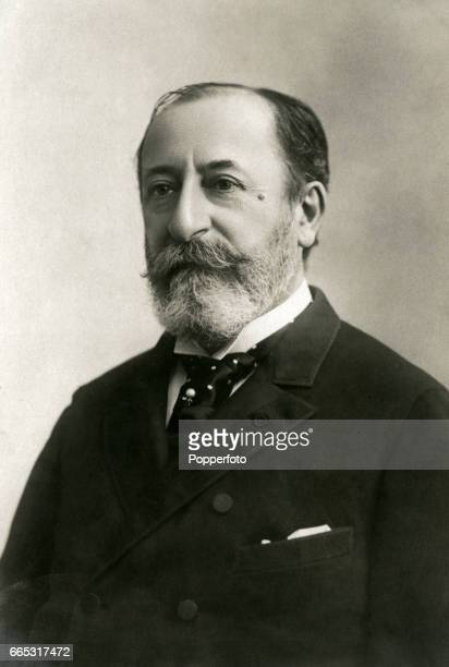 The French composer organist conductor and pianist Camille SaintSaens circa 1900