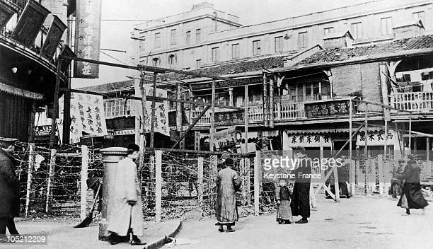 The French Concession Of Shanghai In The 1930'S Surrounded By Barbed Wire To Protect Foreigners