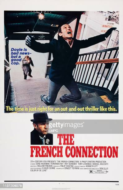 The French Connection poster US poster art Gene Hackman Marcel Bozzuffi 1971#10