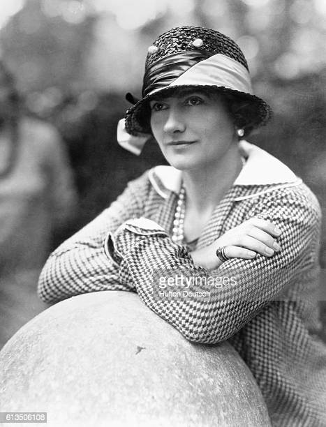 The French couturier and fashion designer Gabrielle 'Coco' Chanel .