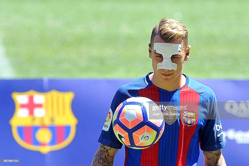 Lucas Digne Signs For FC Barcelona : News Photo