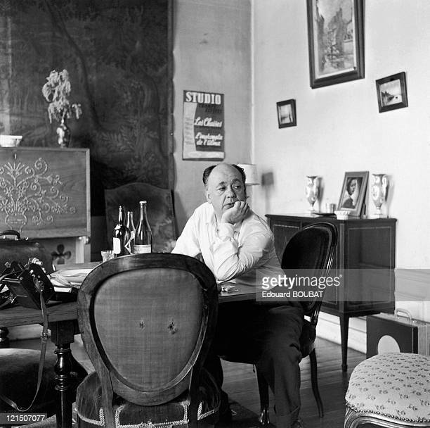 The French Dramatist Of Romanian Origin, Eugene Ionesco In His Home.
