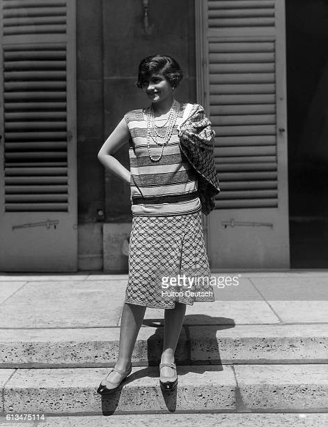 The French fashion designer Coco Chanel . She set up her own couture house and created the famous brand of perfume Chanel no. 5. 1929.