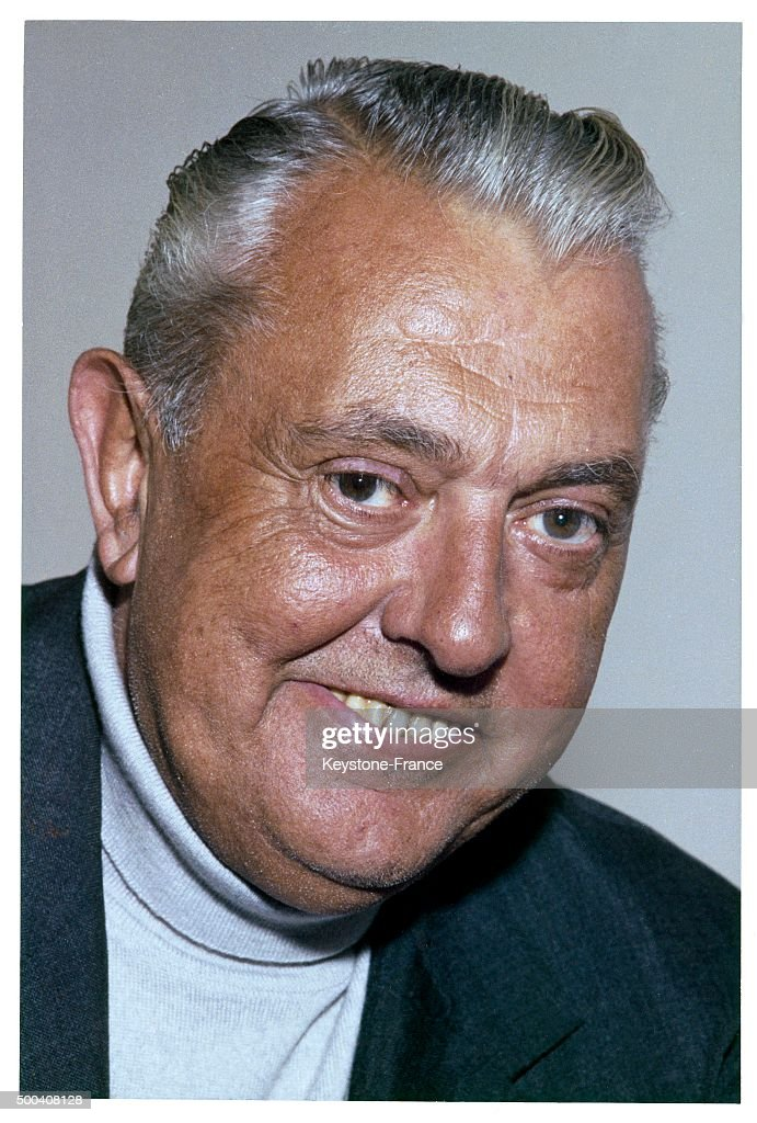 The French film-maker and actor Jacques Tati on his 60th birthday in October, 1968 in France.